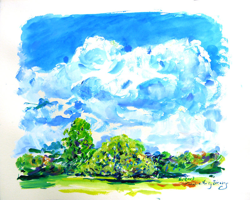 Clare's Clouds over Apple Tree